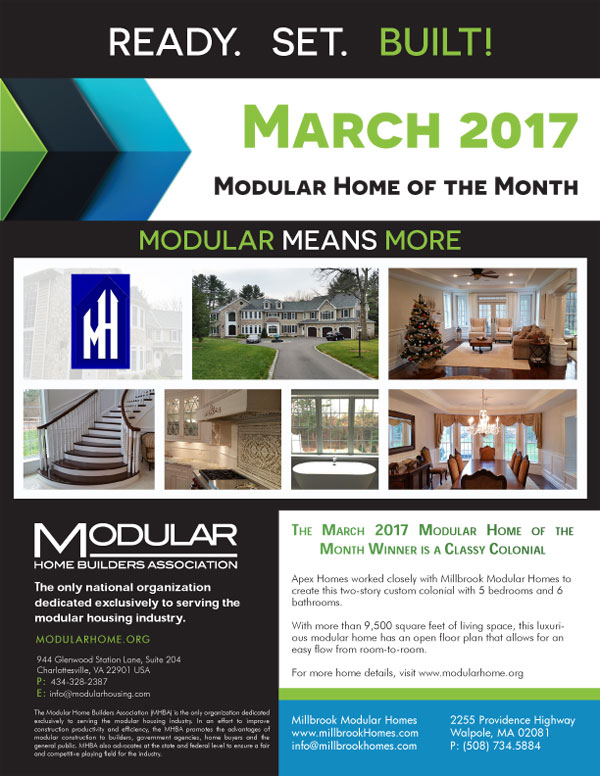 They were so very appreciative  It was simply a small Thank You for all the  work they are putting in  The house is something wonderful    Thank You. Millbrook Modular Homes MA  RI  NH  CT   Millbrook Homes